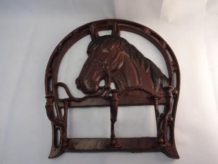 horse head coat rack -3 hooks