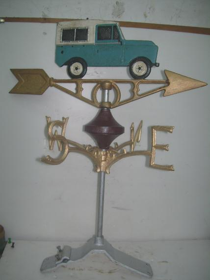 Land Rover weather vane -ridge mount