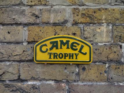 small Camel Trophy sign