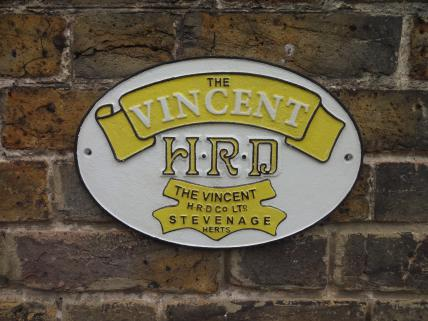 Vincent motorcycle wall plaque