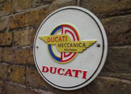 Ducati motorcycle wall plaque