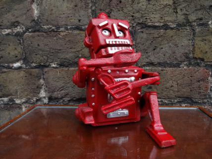 Robot moneybox -red