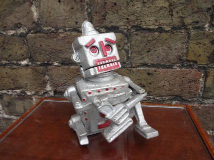 Robot moneybox -silver