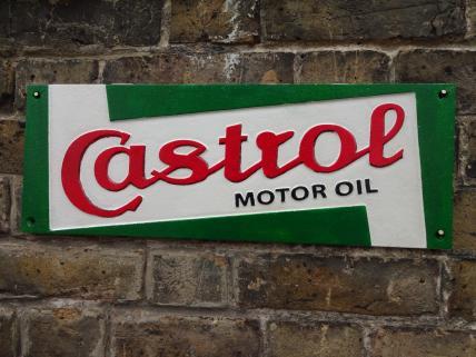 Rectangular Castrol sign