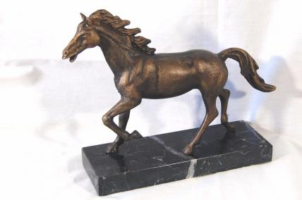 Horse figure on marble base