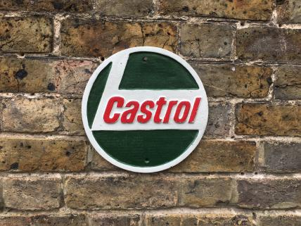Castrol round wall plaque