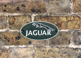 Small Jaguar wall plaque