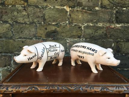 butchers pig money box