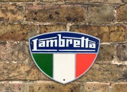 Lambretta wall plaque