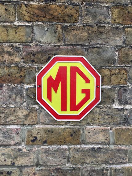MG motors wall plaque