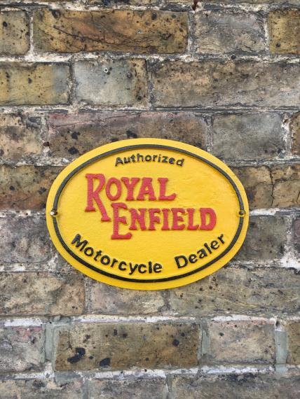 Royal Enfield wall plaque