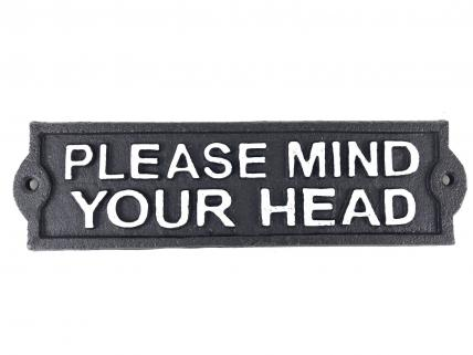 Please mind your head sign