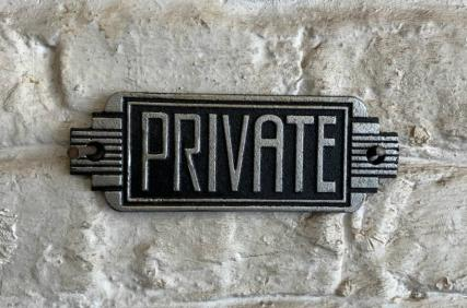 Art Deco Private sign