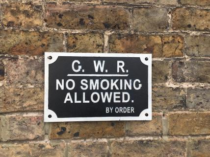 GWR No Smoking sign