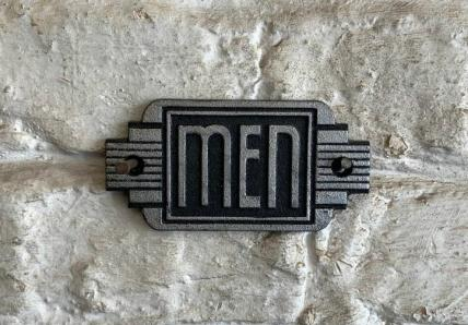 Art Deco MEN sign