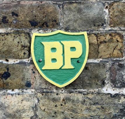 small BP shield plaque