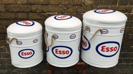 3 nested Esso bin stools