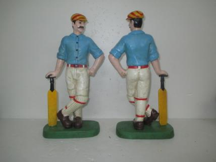 Cricketer doorstop