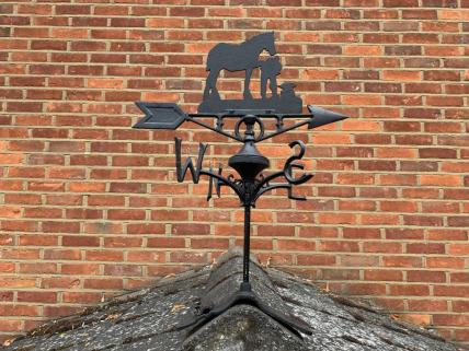 Horse weather vane -ridge mount