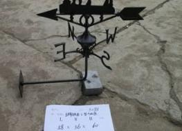 Horse weather vane -wall mount