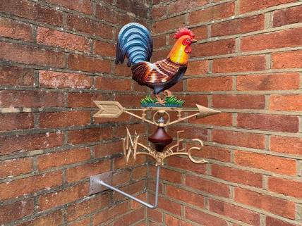 Cockerel weather vane -wall mount
