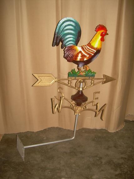 Cockerel weather vane -wall mount