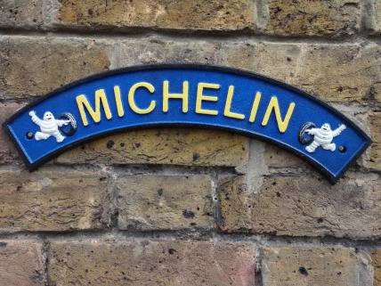 michelin sign -curved