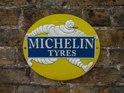 Michelin smoking sign