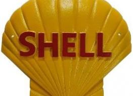 Large Shell logo figure