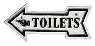 Toilets arrow sign