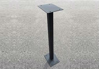 Floor mount post for post box.