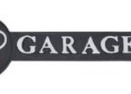 Audi garage arrow sign-white