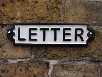 Rectangular Letter sign