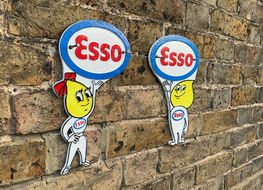 Esso boy & girl profile plaques