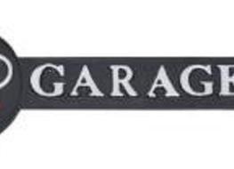 Audi garage arrow sign-silver