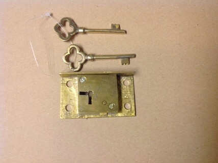 replacement brass lock for post box