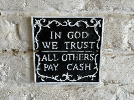 In God We trust -black