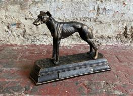 small greyhound figure