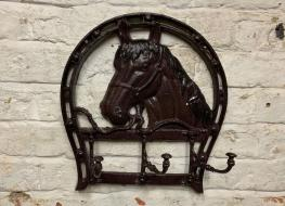 horse head coat rack -3 hooks
