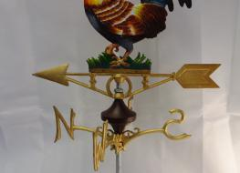 Cockerel weather vane -ridge mount