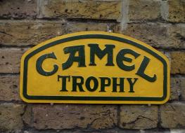 Large Camel Trophy sign