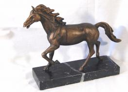 Horse figure on marble base