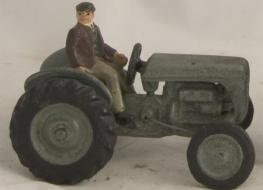 small tractor with driver figure