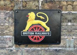 British Rail lion plaque