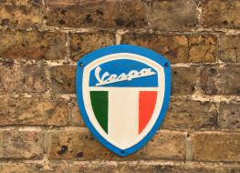 Vespa wall plaque