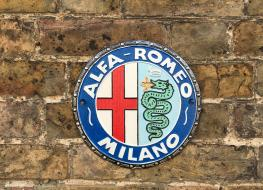 Alfa Romeo wall plaque