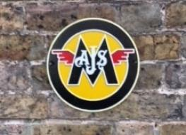 AJS/Matchless wall plaque
