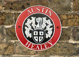 Austin Healey wall plaque