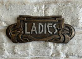 Art Nouveau Ladies sign