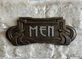 Art Nouveau Men sign